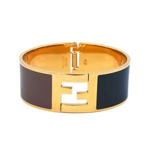 Fendi Signature FF Logo Click Clack Bangle